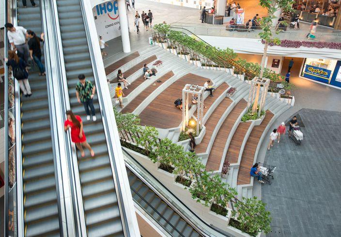 曼谷MegaBangna美食街内庭景观-13