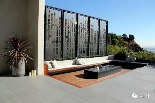 各式各样的庭院景观墙,美_34