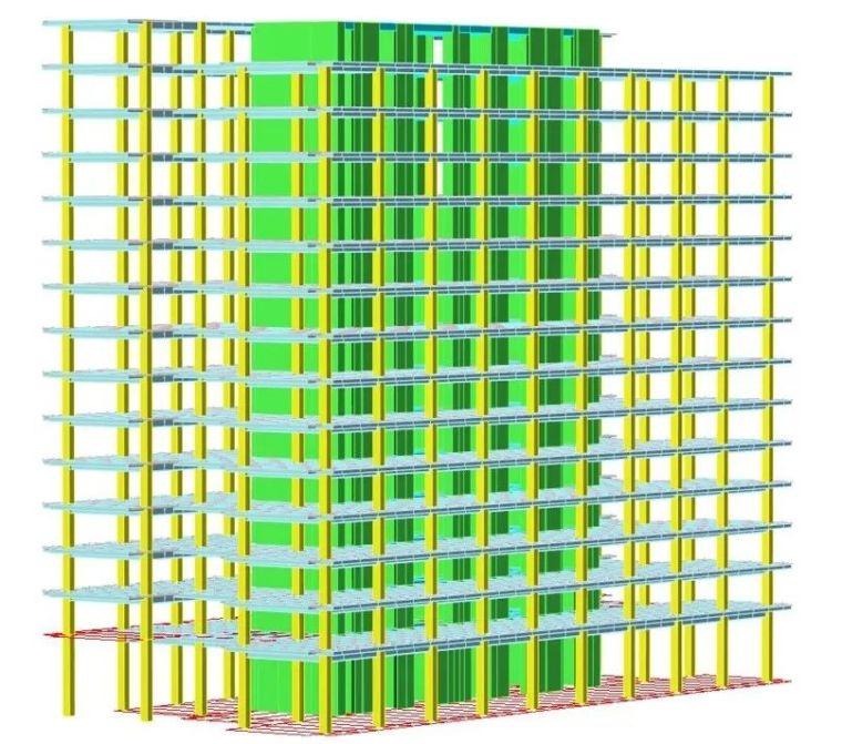 装配式要求下的百米办公楼结构体系_9