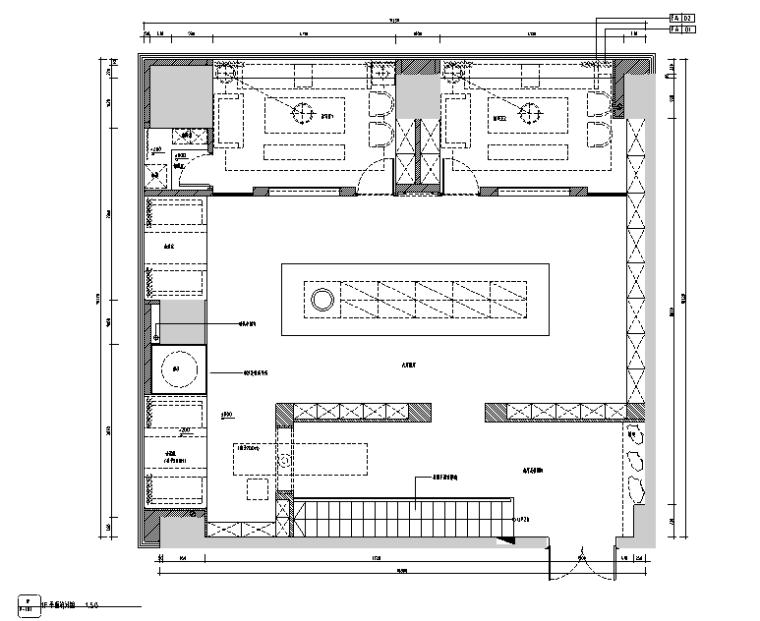新中式素雅风玉石展厅室内设计施工图(含超清效果图)