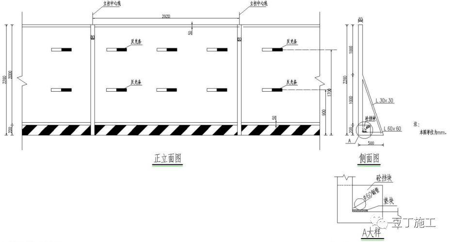 6种常用施工围挡的做法详图_8