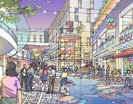 [上海]商业区规划及单体设计方案文本-效果图