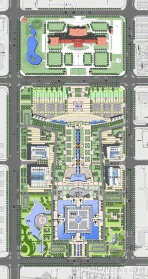 河南安阳市民文化中心景观规划设计方案