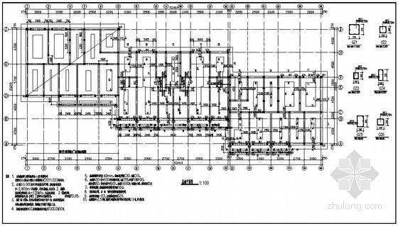 某6层坡屋顶新民居部分结构设计图