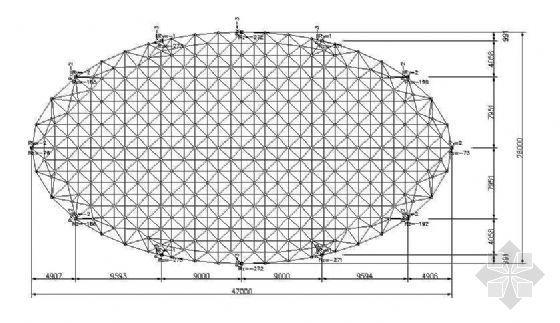 某大饭店游泳馆椭圆形网架全套图纸