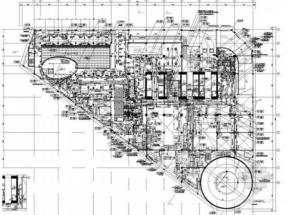 [上海]超高层综合商办楼空调通风及防排烟系统设计施工图(压缩式冷水机组)