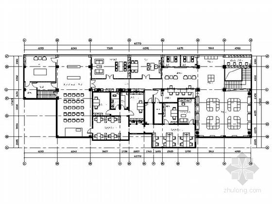 [杭州]精品设计新中式风格典当行CAD装修施工图(含效果及物料表)