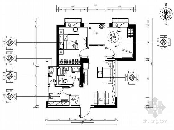 [昆明]温馨生活家园现代两居室装修施工图(含效果)