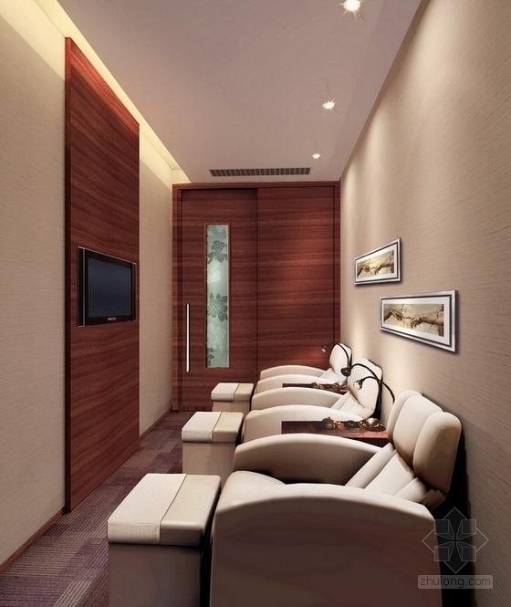 [上海]高档商务休闲会所室内设计概念方案图休息包房效果图