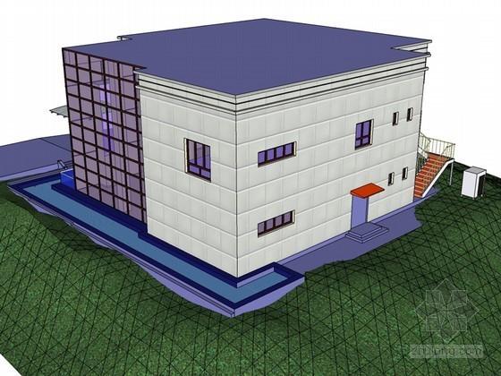 简单建筑SketchUp模型下载-简单建筑