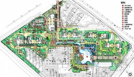 [深圳]现代岭南风格居住区景观扩初设计方案