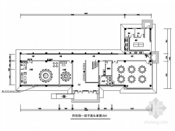 [安徽]现代消防办公楼室内装修施工图(含水电)