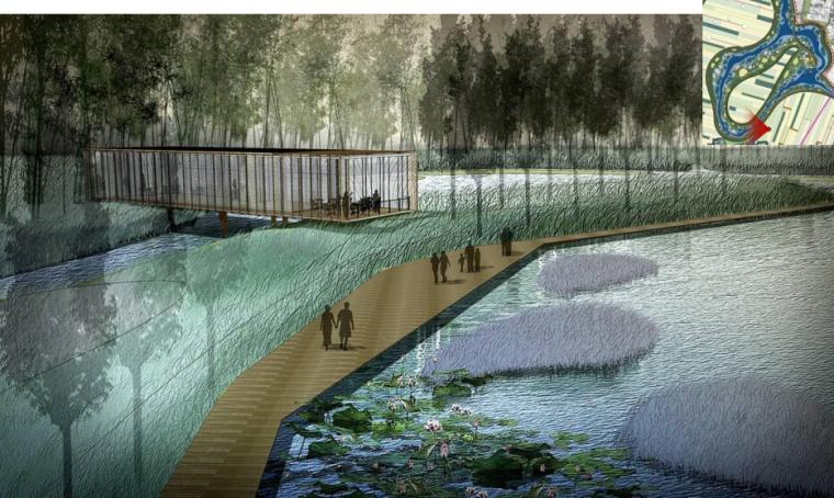 [辽宁]国家试点湿地公园景观规划设计文本-木栈道效果图
