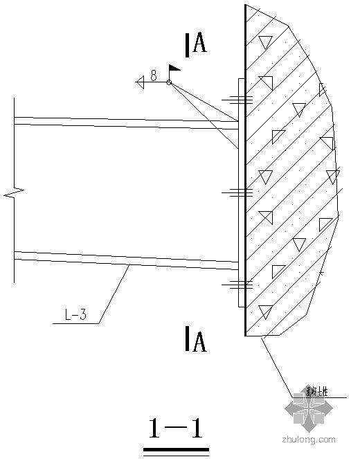 某轻钢雨棚节点构造详图