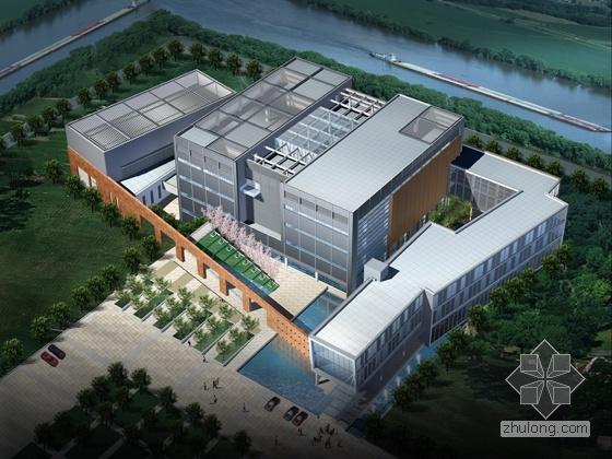 中国某银联数据中心建筑方案文本(含模型照片)