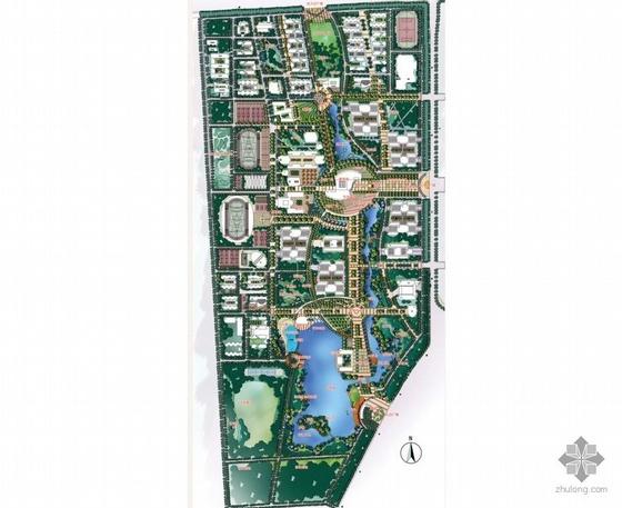 陕西高校校园景观概念设计图纸