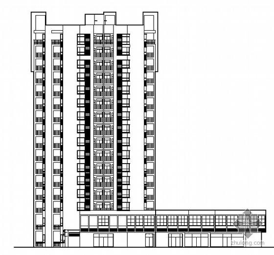 U模型幼儿园资料下载-[四川]某电梯公寓小区住宅楼群组团(15栋楼及地下车库和幼儿园)建筑结构水电风施工图