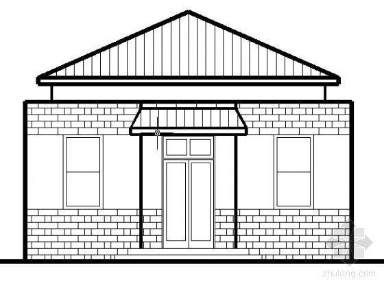 某绿地管理房建筑方案图-某知名地产管理房建筑方案图