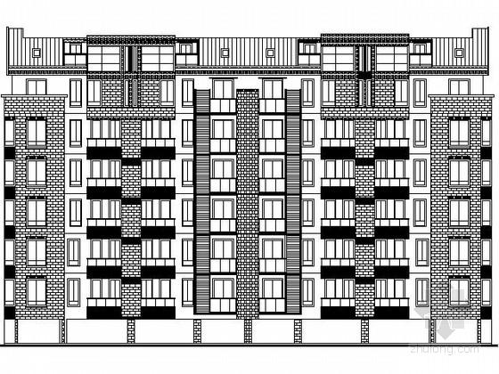 [安徽]某六层板式住宅楼建筑施工图(南梯)