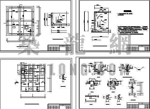 消防图管路图资料下载-300M3消防水池设计图