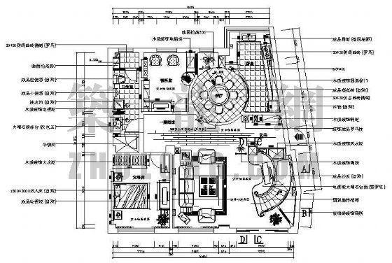 某二层别墅CAD装修图(带露台欧式设计)