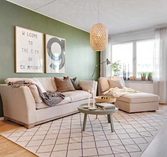 瑞典清新色调公寓设计
