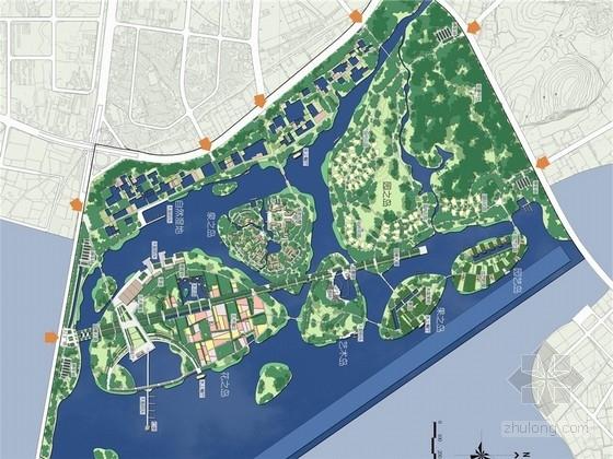 [厦门]海湾绿岛园会展区总体景观规划设计