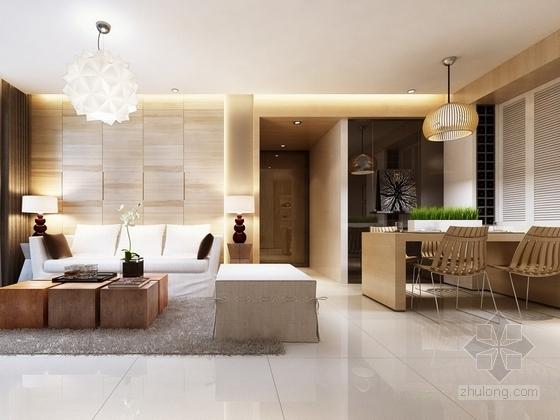 [惠州]温馨现代风格三居室样板间室内装修图(含效果) 效果