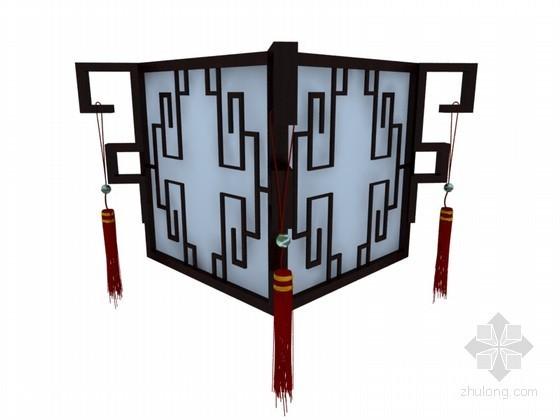 中式宫廷吊灯3D模型下载