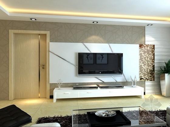 客厅电视背景墙3D模型下载