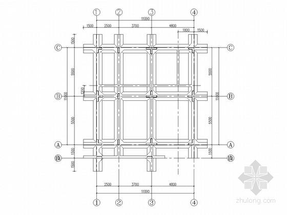 四层框架结构别墅结构施工图(含建筑施工图)