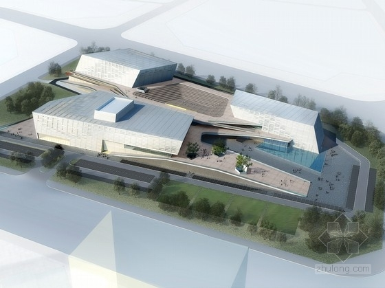 [广东]现代风格市民文化活动中心建筑设计方案文本(含CAD)