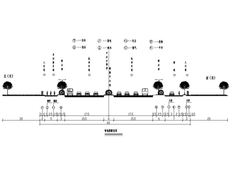 [安徽]市政道路综合管线工程施工图设计