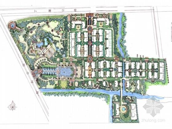 [浙江]欧式风格居住区景观概念规划设计