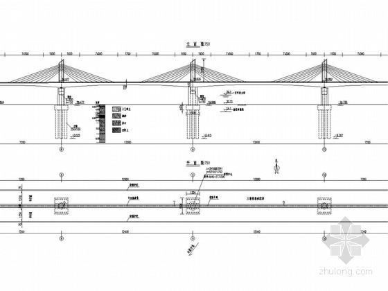 主跨120m三塔矮塔斜拉桥全套设计图(39张)