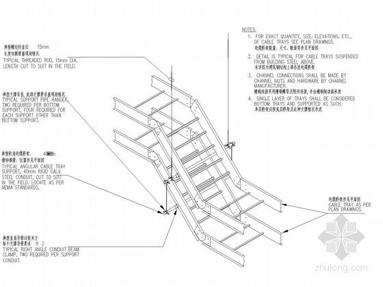 建筑电气施工常用节点详图汇总(桥架、线管、机电设备)