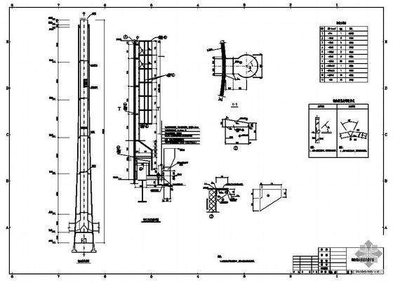 某电厂烟囱内筒结构图