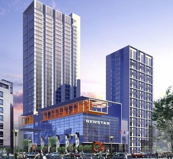 [广东]高层玻璃幕墙商业综合体建筑方案文本