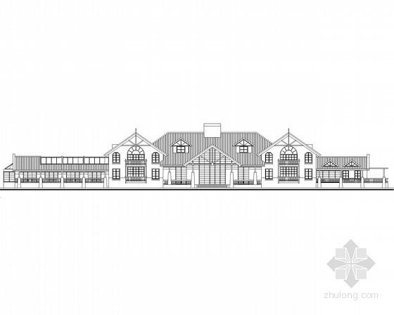 某别墅区二层英式风格会所建筑方案图