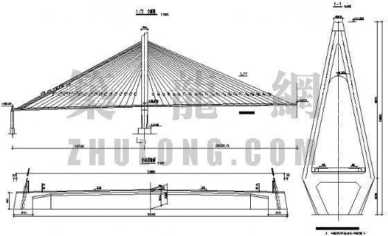 海口世纪大桥结构安全监测设计图纸