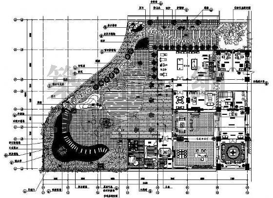 某办公楼屋顶花园环境工程套图