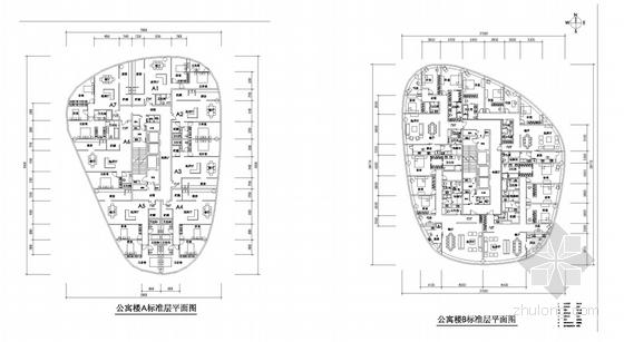商业步行街规划各层平面图