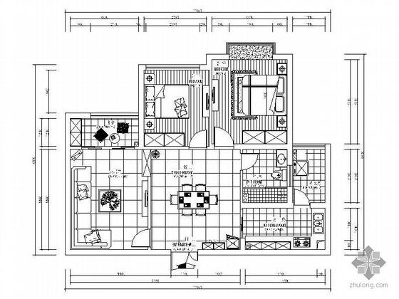 两室两厅设计方案图(含效果)