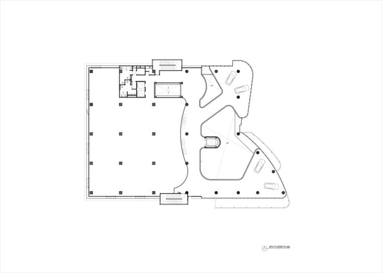 九转回环、流畅现代的车展大厅及办公楼设计_11