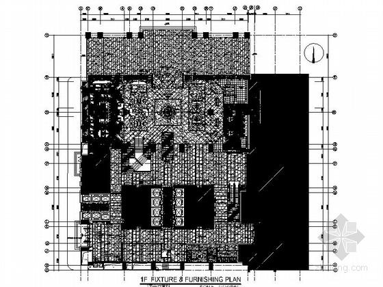 [深圳]繁华商业区酒店大堂及大堂吧装修施工图(含效果)