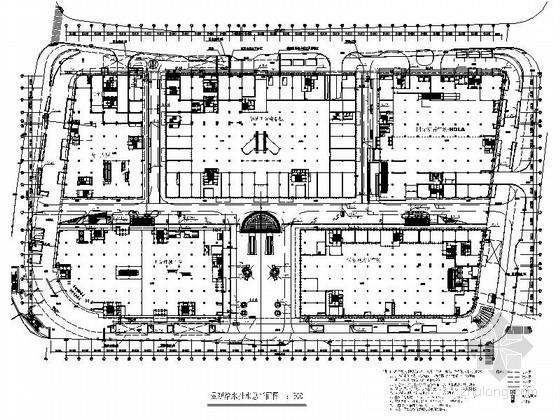 [上海]大型核心建筑旗舰商业广场装修设计CAD施工图