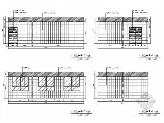 [原创]超全面现代安静残疾人医院装修CAD施工图