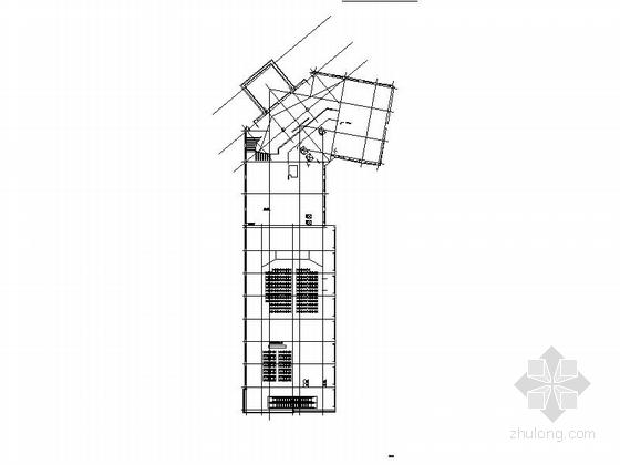 [四川]现代风格高层商务酒店建筑设计方案图-现代风格高层商务酒店建筑平面图