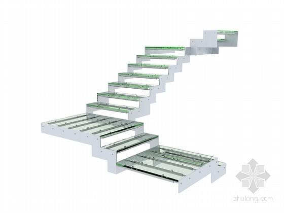 玻璃楼梯3D模型下载
