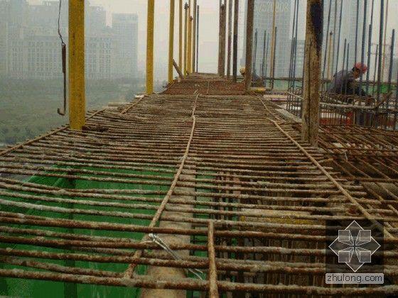 [重庆]建筑工程槽钢悬挑外脚手架搭设施工工艺(附图丰富)-钢筋施工